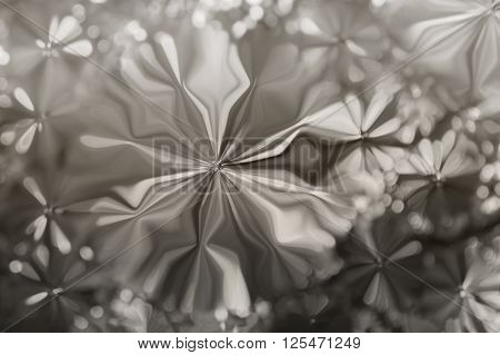 Abstract Millennium Or Silver Platinum Colour Flowers Shape Pattern Design Background