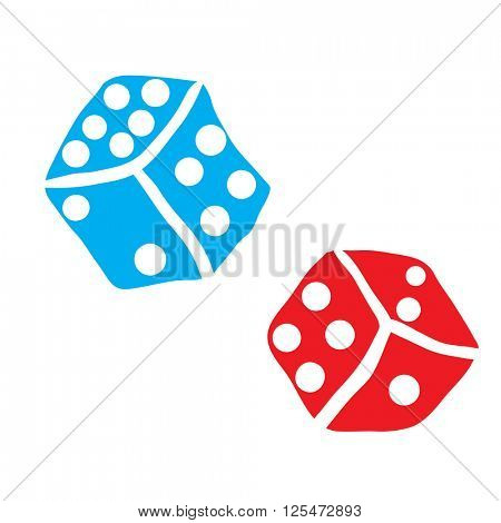 freehand drawn dices illustration