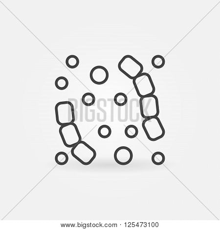 Linear virus icon - vector minimal bacteria or virus symbol in thin line style
