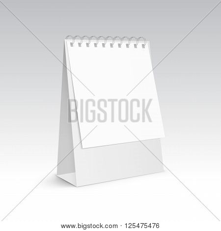 Vector Illustration of Table Blank Stand Holder for Menu Paper Calendar Card Isolated on White Background