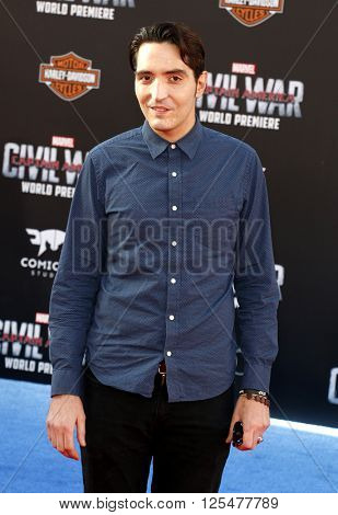 David Dastmalchian at the World premiere of 'Captain America: Civil War' held at the Dolby Theatre in Hollywood, USA on April 12, 2016.