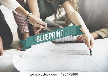 Blueprint Diagram Prototype Representation Layout Guide Concept