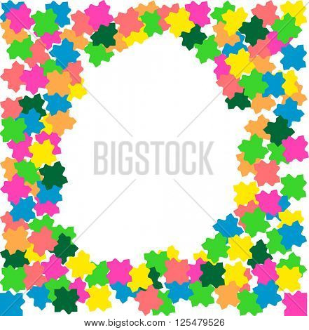 Puzzle Pieces Background Vector Illustration