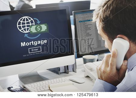 Mortgage Payment Debt Finance Website Online Concept