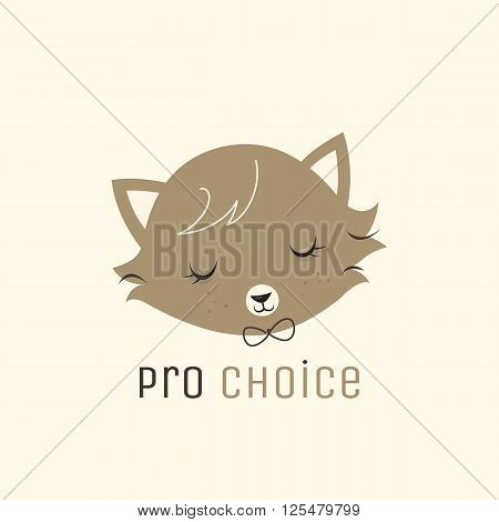 Vector logotype concept. Cat logotype.  Pet shop logo concept. Pet care logo concept.  Cats food logotype. Vector cartoon character.