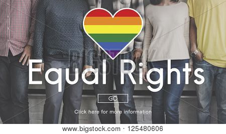 LGBT Equal Rights Rainbow Symbol Concept