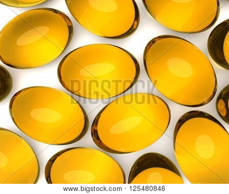 Oil Supplements In Soft Gel Capsules