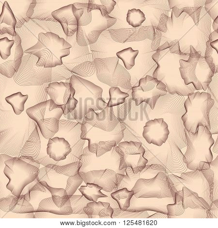 Seamless Pattern with chaotic guilloche elements vector illustration template background linear patterns with smooth colors transitions