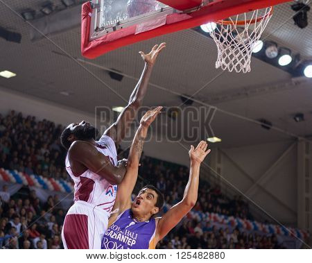 Bc Krasnye Krylia Forward Julian Wright (30) Does A Layup