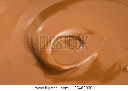 Background Of Melted Milk Chocolate