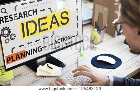 Technology Research Ideas Planning Concept