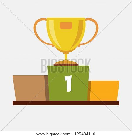 Cup on a pedestal. Vector. Illustration. EPS.