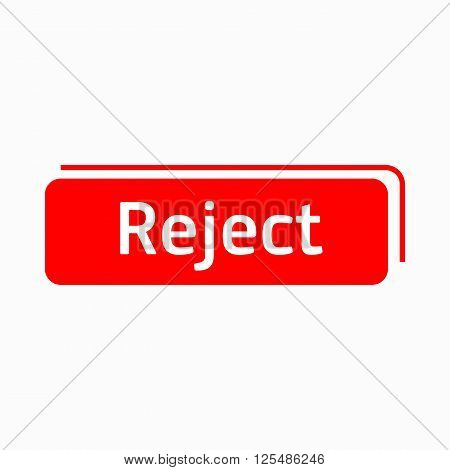 Reject icon in simple style on a white background
