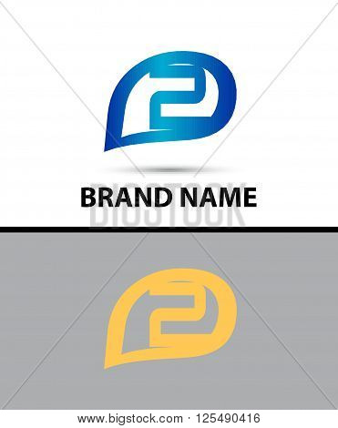 Vector sign number 2 logo. Vector illustration design