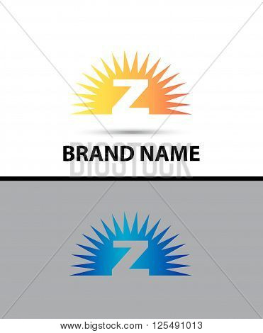 Abstract sunrise icon based on the letter Z logo