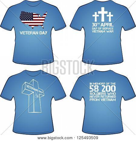 Graphic T- shirt design. Vietnam war, vector illustration
