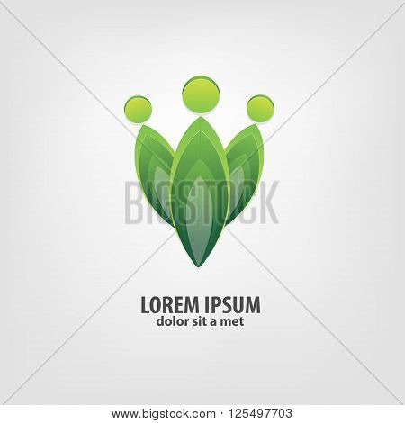 Organic, bio logo design idea. Logo community icon. Template Design Logos