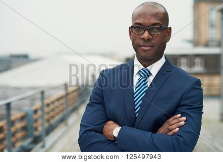 Confident Black Business Man