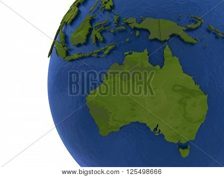 Australian Continent On Earth