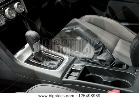Automatic transmission gear shift in car .