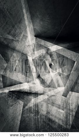 Abstract Grungy Dark Concept Chaotic Pattern