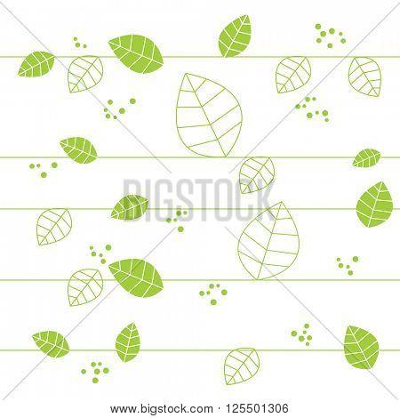Green seamless natural pattern