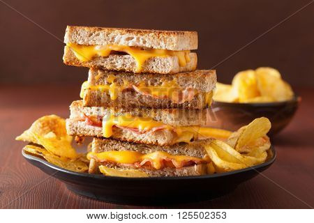 grilled cheese and bacon sandwich