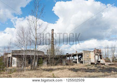 Abandoned Ruins Of Military Settlement