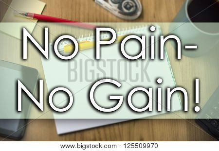 No Pain - No Gain! -  Business Concept With Text