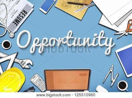 Opportunity Chance Development Motivation Skill Concept