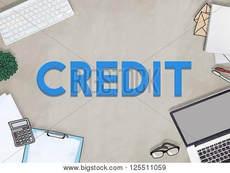 Credit Debit Finance Budget Economy Concept