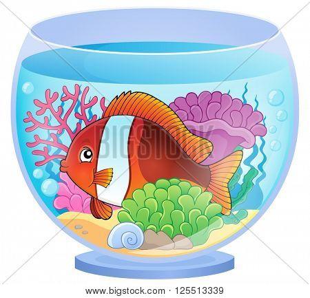 Aquarium topic image 6 - eps10 vector illustration.