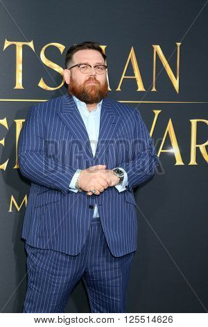 LOS ANGELES - APR 11:  Nick Frost at the The Huntsman Winter's War American Premiere at the Village Theater on April 11, 2016 in Westwood, CA