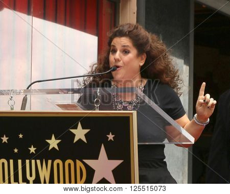 LOS ANGELES - APR 11:  Marissa Jaret Winokur at the Harvey Fierstein and Cyndi Lauper Hollywood Walk of Fame Ceremony at the Pantages Theater on April 11, 2016 in Los Angeles, CA