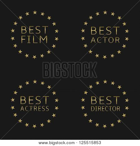 Best film, best actor, best actress, best director labels