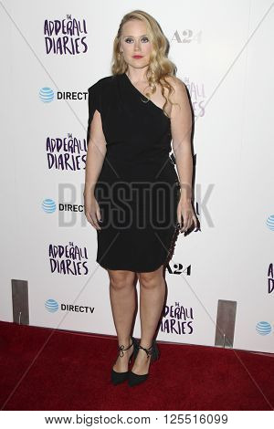 LOS ANGELES - APR 12:  Pamela Romanowsky at the The Adderall Diaires Premiere Screening of A24/DIRECTV Series at the ArcLight Hollywood on April 12, 2016 in Los Angeles, CA