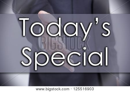 Today's Special - Business Concept With Text