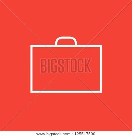 Briefcase line icon.