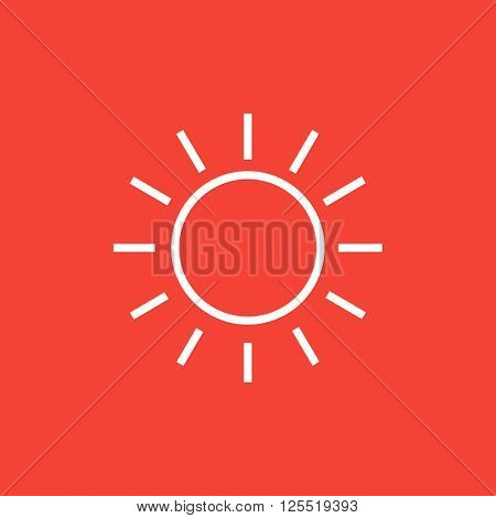 Sun line icon.