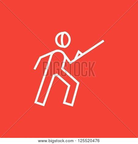 Fencing line icon.