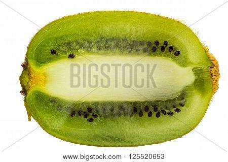 Kiwifruit isolated on white background and clipping path