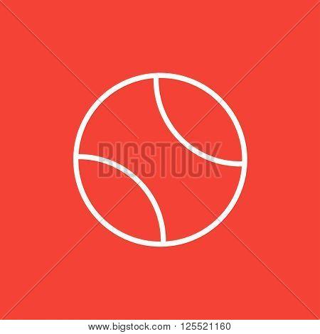 Tennis ball line icon.