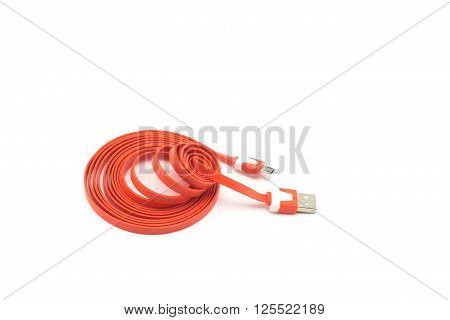 Image cable connector USB on white background