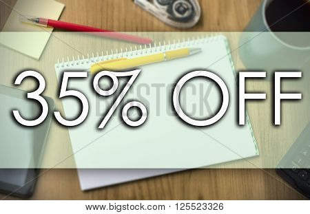 35 Percent Off -  Business Concept With Text