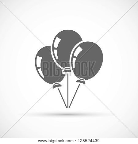 Baloons icon isolated on white background. Party symbol
