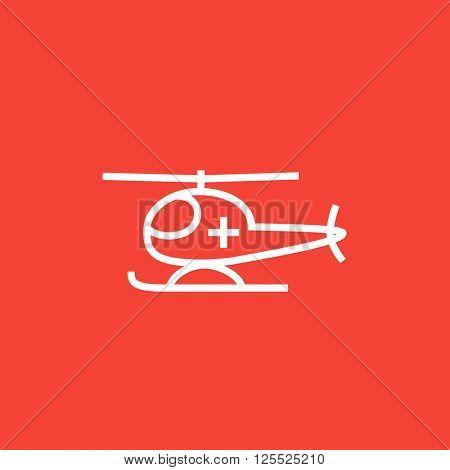 Air ambulance line icon.