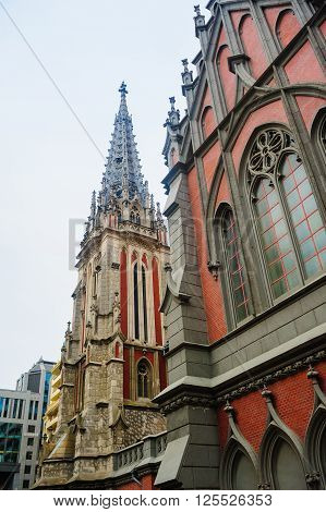 Catholic church in the Gothic style architecture.