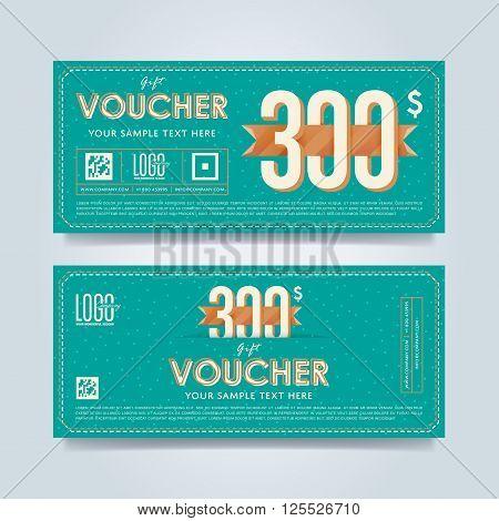 Voucher Design Discount Coupon Vector Photo – Discount Voucher Design