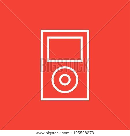 MP3 player line icon.