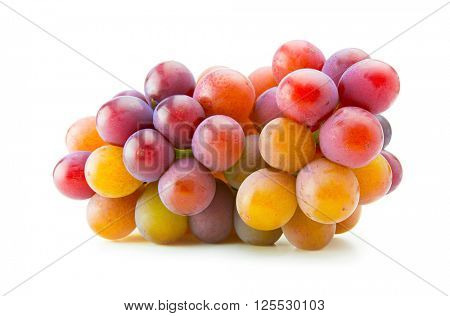 Colorful grape isolated on white.